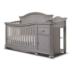Sorelle Finley Crib & Changer in Weathered Grey