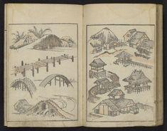 Image gallery: (Denshin kaishu) Hokusai manga, vol. 1 (伝神開手)北斎漫画, 初編 ((Transmitted from the Gods) Random Drawings by Hokusai, vol. Small Drawings, Art Drawings, Watercolor Inspiration, Art Occidental, Oriental, Pin Up, Katsushika Hokusai, Japan Art, Japanese Artists