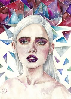 Fabulous Drawing On Creativity Ideas. Captivating Drawing On Creativity Ideas. Kunst Inspo, Art Inspo, Art And Illustration, Watercolor Portraits, Watercolor Paintings, Watercolour, Art Magique, Portrait Background, Guache