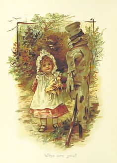 """Who Are You"" -- by Helen Jackson (British, 1855-1911); illustration from unnamed 1883 children's book. Posted at Alenquerensis: blogspot"
