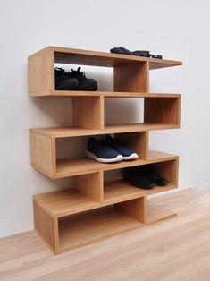 NEW 2019 Schuhregal Eiche Shoe Shelf Oak Shoe Rack Oak   Etsy Wooden Shoe Rack Designs, Wooden Shoe Racks, Shoe Rack Oak, Diy Shoe Rack, Best Shoe Rack, Boutique Interior, Shoe Shelves, Shoe Storage, Diy Regal