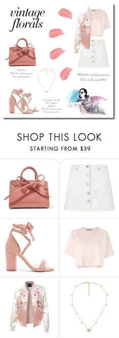 """""""vintage florals🌸🌹"""" by andreeapetre4 on Polyvore featuring Mansur Gavriel, Miss Selfridge, Raye, adidas, LE3NO, Gucci and vintage"""