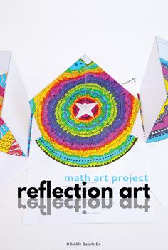 Reflection art is an incredible hands-on lesson in math, art, and science! A great STEAM activity for kids of all ages. Magic Mirror, Mirror Art, Brain Activities, Activities For Kids, Kids Mirrors, Steam Art, Cool Science Experiments, Mad Science, Reflection Art