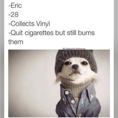 """""""Haha this is cute  #dog #doghumor #dogsofinstagram #collectsvinyl #collector #vinyl #vinylcollection #dogoutfit #doghat #dogcoat #dogdressedup…"""""""