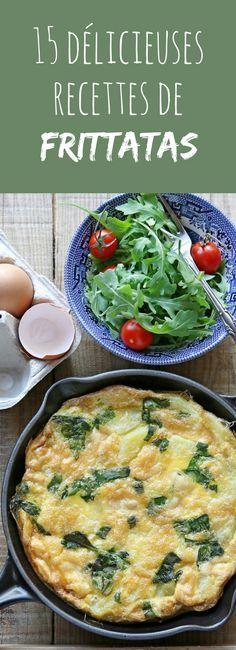 15 recettes faciles de frittatas ! Quiches, Omelettes, Vegan Recipes, Cooking Recipes, Perfect Breakfast, No Cook Meals, Food Porn, Brunch, Dinner Recipes