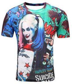 a7e049d4a384 2018 Fashion New Cool T shirt Men Harajuku 3D Tshirt Print Suicide Clown  Short Sleeve Summer