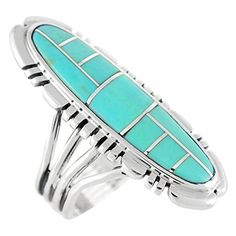 Sterling Silver Statement Ring in Genuine Turquoise for Women Size 5 to 12 - http://www.jewelryfashionlife.com/sterling-silver-statement-ring-in-genuine-turquoise-for-women-size-5-to-12/