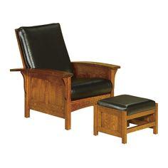 Bow Arm Panel Morris Chair   Amish Chairs U0026 Recliners, Amish Furniture   Shipshewana  Furniture