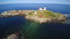 Nubble lighthouse in Maine . Aerial View, Lighthouse, Your Favorite, Maine, Most Beautiful, Photos, Pictures, Water, Outdoor