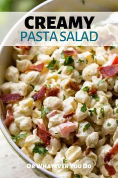 This delicious creamy macaroni salad is so simple to make, but one of the first things to go on a barbecue buffet table. Creamy Macaroni Salad, Creamy Pasta Salads, Easy Pasta Salad Recipe, Easy Salad Recipes, Top Recipes, Pasta Recipes, Recipies, Outdoor Cooking Recipes, Camping Recipes