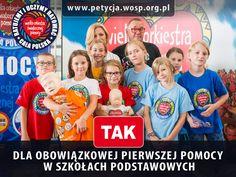 Podpisz naszą petycję w sprawie obowiązkowej nauki pierwszej pomocy w szkołach podstawowych! www.petycja.wosp.org.pl