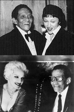"""Madonna & Jazz legend Jimmy Scott at Tavern on the Green (top) and in her '94 """"Secret"""" video.  """"Jimmy Scott is the only singer who'd ever really made me cry, he is like no other!"""" - Madonna"""