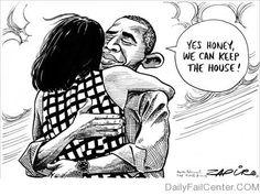 Obama by Zapiro.  Adorable! :)