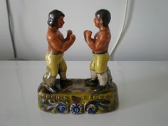 STAFFORDSHIRE POTTERY STYLE BOXING FIGURINE POW!