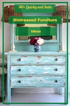 40+ Quirky and Antic Distressed Furniture Ideas #distressedfurnitureideas Distressed Furniture, Rustic Furniture, Furniture Ideas, Accent Furniture, Granite Countertops, Counter Tops, Kitchen, Home Decor, Beautiful