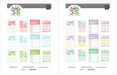 COUNTDOWN free planner printable designed by me from me & my BIG idea   Amanda Rose Zampelli