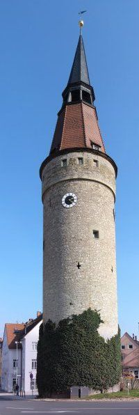 Leaning tower of Kitzingen, Germany -- there are two stories about why this tower leans. Because the tower was built during a time when wine was plentiful so wine was used to mix the concrete. Another story says the tower leans because they drank a tad too much wine while they built it! There is also a scary prediction about the shadow of this tower aligning in a special way with Count Dracula's grave, which is in a cemetary across the street.
