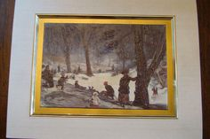 $5.99  Children Snow Fine ART Greeting Card Central Park Winter BY William Glackens | eBay  #holiday #stationary #greetingcard
