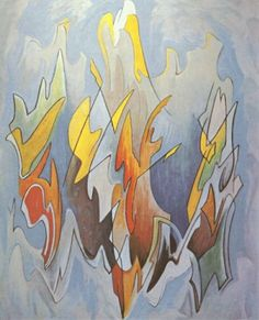 """Lawren S. Harris Canadian, Member of The Group of Seven 1885 - 1979 """"Abstraction"""""""