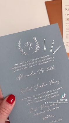 The first line of your invitations can indicate who is hosting the wedding. Here are some common formats for wording!