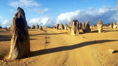 Freezing at home? Head to the Southern Hemisphere for a nice, warm getaway. Limestone formations known as the Pinnacles are located within N...