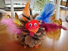 pine cone turkey, Thanksgiving craft