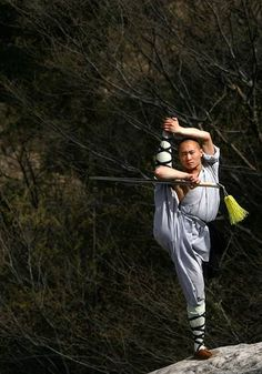 Strength, flexibility and agility are all essential attributes for Shaolin's fighting monks. #China