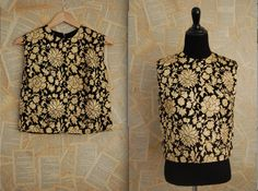 Mod 60s Lux Brocade Cropped Top by AnastasiaSwift on Etsy, $40.00