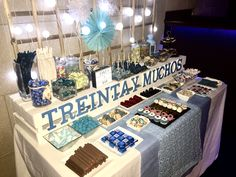 Candy Bar 30th Birthday, Birthday Parties, Dulce Candy, Cookie Table, Candy Cookies, Ideas Para Fiestas, Fancy Cakes, Party Time, Buffet