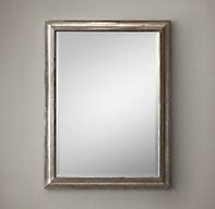 """Margie, Masterbath, Option 2 - gorgeous aged nickel mirror for the master bathroom, or you can use it in the guest bathroom.  It comes in many sizes we would need to confirm the location of the lamps.  English Aged Nickel Mirror 36"""" x 48"""" 