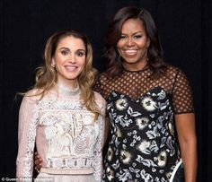 Queen Rania shared a throwback photo of herself with Michelle Obama on Instagram with touching good-bye