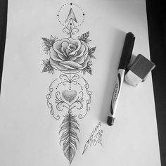 Discover recipes, home ideas, style inspiration and other ideas to try. Girl Arm Tattoos, Dope Tattoos, Sister Tattoos, Feather Tattoos, Leg Tattoos, Flower Tattoos, Sleeve Tattoos, Tattoos For Women, Tatoos
