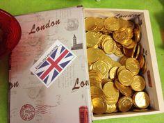 Turning one with Paddington! British Pounds chocolates