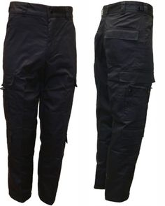 Item #7821: EMT Duty Pants (NAVY BLUE) - BDU Style. These EMT Duty Pants are an exceptional value! Navy blue in color and poly/cotton blend for durability, anti-shrink and anti-fade. Complete with 9 pockets, including specialized cargo pocket for EMT equipment such as shears, scissors and penlight.