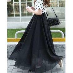 b7eea61bda Black Chiffon Skirt With Polka Dot Top - Faash Wear
