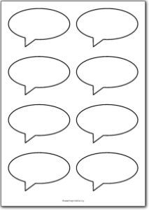 Free printable thought bubble labels. Would really help