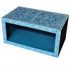 Pandora Bone inlay Blue Floral Coffee Table