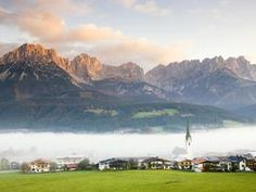 Ellmau Village in Fog, Tyrol, Austria - Professional Photos