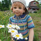 Работы для детей, ручной работы. Ярмарка Мастеров - ручная работа Кофточка вязаная спицами для малыша. Handmade.