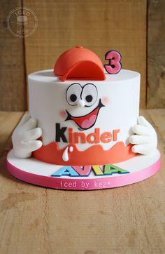 Kinder Surprise themed Cake - iced by kez #kindersurprisecake #3rdbirthday