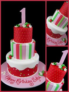 http://inspiredbymichelleblog.com/2012/03/09/strawberry-shortcake-1st-birthday-cake/