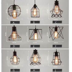 Mixed Vintage Edison Metal Wire Cage Hanging Lamp Shade Pendant Light Chandelier