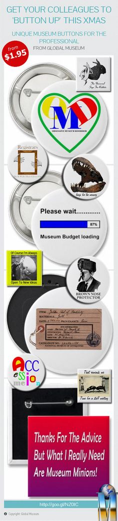 Get Your Museum Colleagues To 'Button Up' This Christmas! #museum #gallery #art #design #button #gift #Xmas #Christmas #staff #infographic