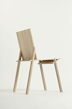 """numbers This chair is visually very simple and honest; one can see where the legs pass through the structure, and where their ends become flush with the seat. The final piece it is composed by simple structural joint that hides the complexity of an accurate jig. Part of """"Out Of the Woods"""" exhibition"""