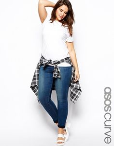 ASOS CURVE Ridley Super Soft Skinny Jean http://www.asos.com ...