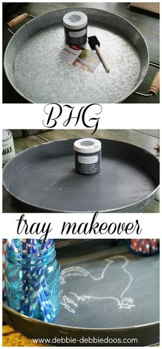 How to make something new look old with chalky paint. A BHG tray makeoveri. #BHGinspiration. @michaelsstores