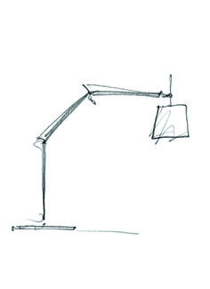 Simple lines for what is unquestionably a design icon!  ‪#‎Tolomeo‬ Mega Terra ‪#‎design‬ Michele De Lucchi & Giancarlo Fassina #sketch