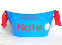 Hey, I found this really awesome Etsy listing at https://www.etsy.com/listing/125804711/personalized-baseball-theme-storage-tub