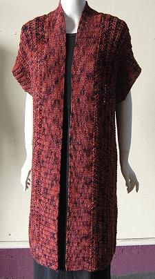 Free Knitting Pattern - Women's Vests: Long Kimono Vest