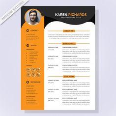 Resume template Premium Vector | Premium Vector #Freepik #vector #infographic #business #design #template